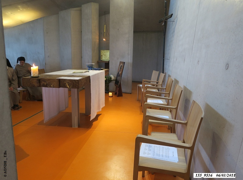 Autel oratoire monastère Sainte-Claire Renzo Piano