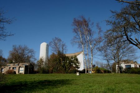 Vue générale la chapelle Le Corbusier
